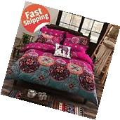Duvet Cover Set 3 Piece Full Queen Microfiber Moroccan