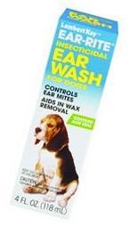 Lambert Kay Ear-rite Insecticidal Ear Wash 4 Ounces - 51106