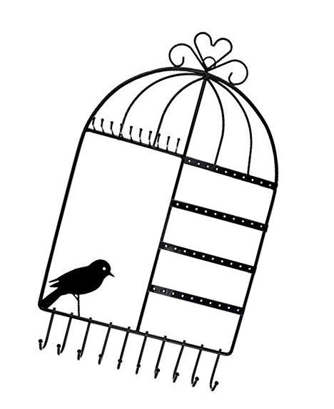 Earing Holder Necklace Hanger Birdcage Jewelry Organizer