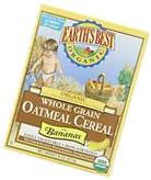 Earths Best Organic Whole Grain Oatmeal Cereal with Bananas