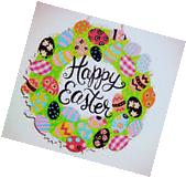 EASTER HAPPY EASTER SIGN HANGING DECORATION.WREATH STYLE