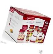 Rubbermaid 50 pc piece Easy Find Food Plastic Storage