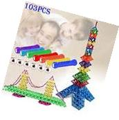 188pcs Educational Magnetic Sticks Building Blocks Toys Set