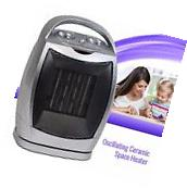 Electric Ceramic Space Heater Oscillating Fan Portable,