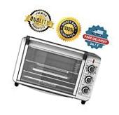 Electric Convection Oven 6-Slice Stainless Steel Toaster
