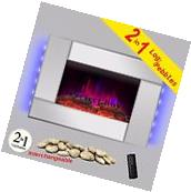 """23"""" Electric Fireplace Heat Tempered Glass Freestanding Logs"""