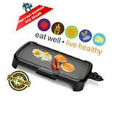 Electric Griddle Family Size Non Stick Cooking Food Pancake