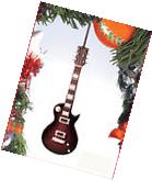 """ELECTRIC GUITAR PURPLE 5"""" MUSICAL INSTRUMENT CHRISTMAS"""