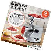 New 1800W Electric Meat Grinder Sausage Stainless Steel