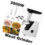 Electric Meat Grinder 2800W Steel Industrial Food Mincer