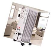 1500W Electric Oil Filled Radiator Space Heater 5-Fin