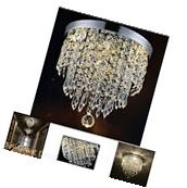 Elegant Chandelier Light Ceiling Flush Mount Modern Fixture