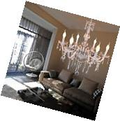 Elegant Crystal Chandelier Modern 6 Ceiling Light Lamp