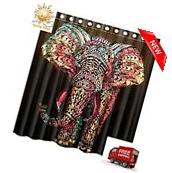 66X72 Elephant Waterproof Polyester Fabric Bathroom Shower