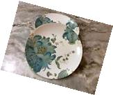 Eliza Teal Dessert Plates. 222 Fifth. Set Of 4. Porcelain.