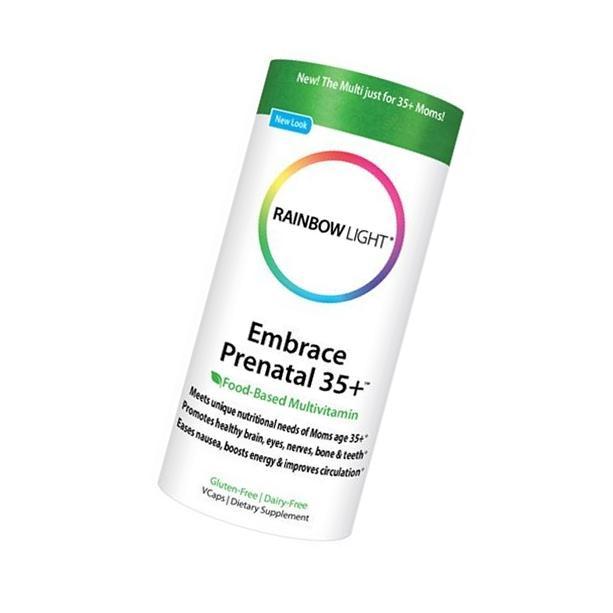 Rainbow Light Embrace Prenatal 35+, 60 vegetarian capsules