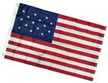3x5 Ft EMBROIDERED NYLON 15 STAR SPANGLED BANNER AMERICAN US