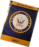 "Brand New Embroidered U.S. NAVY Military Garden flag 12"" X"