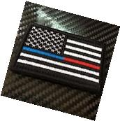 EMBROIDERED US FLAG THIN RED BLUE LINE UNITED STATES MORALE