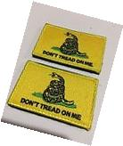 2x Embroidery Tactical Morale Patch Don't Tread On Me Flag
