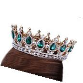 Emerald Crystal Teardrop Bridal Tiaras Prom King Queen Gem