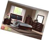 Emily Queen Upholstered Bed 5pc Contemporary Bedroom