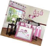 Entranced Forest Baby Girl Nursery CRIB BEDDING SET 14PCS