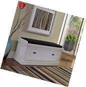 Entryway Storage Bench Shoe Organizer Seat Furniture Wood