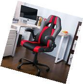 Merax Ergonomic Racing Office Gaming Chair PU Leather Mesh