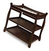 Badger Basket Espresso Sleigh-Style Changing Table with