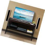 """Espresso TV Stand rack 45"""" Entertainment Center Media"""