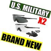 NEW ESS ICE Eyeshield MILITARY Ballistic Safety Glasses