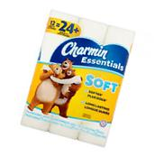 Charmin Essentials Soft Toilet Paper, 12 double rolls