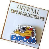 Expo 86 Vancouver Worlds Fair Rocket Lapel Pin New Mascot