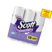 Scott Extra Soft Toilet Paper, Large Roll, 18 Rolls, Bath