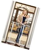 Extra Tall Walk Through Gate Child Baby Pet Safety with Rail