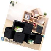 Songmics 6 Pcs Fabric Drawer Foldable Home Organizer Storage Bins Cubes UROB26H