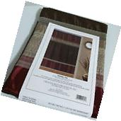 Creative Bath Fabric Shower Curtain Modern Brown / Burgundy