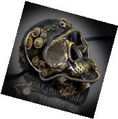 Mens Full Face Steampunk Skull Theater Costume Masquerade