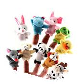 10 Pcs Family Finger Puppets Cloth Doll Baby Educational