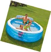 LARGE Inflatable Swimming Pool Center Lounge Family Kids