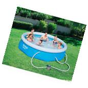 "Fast Set 10' x 30"" Swimming Pool Set with Filter Pump"