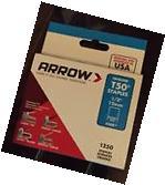 "Arrow Fastener 50824 T50 1/2"" staples 1250 Pack"