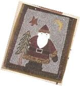 Father Christmas Chops Down Tree Manley Rug Design Pattern