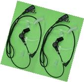 2X FBI Style Headset/Earpiece Mic for Motorola Walkie Talkie