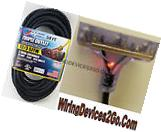 50' FEET 12/3 SJTW Gauge Black Extension Cord lighted Triple
