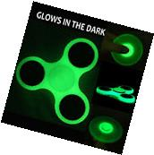 Fidget Spinner Glow in the Dark Hand Finger Toy Tri Focus