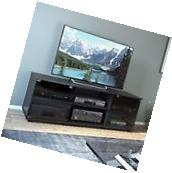 Sonax Fiji Ravenwood Black 60 Inch Entertainment Center