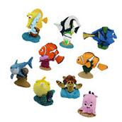 Finding Nemo Marlin Dory Cake Topper Figures 9pcs Toy Doll Playset= U.S. SELLER