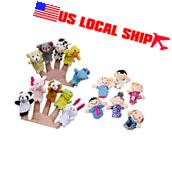 16PC Finger Puppets Animals People Family Members